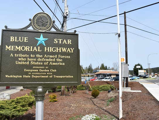 The new Blue Star Memorial highway marker will be featured