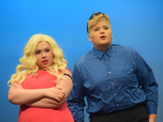 """Brady Sanders(right) portrays Ryan Evans and Lesley Brunk portrays his sister Sharpay Evans in Lagniappe Theatre Company' production of Disney's """"High School Musical"""" set for Thursday (May 3) through Sunday. Showtimes are 7 p.m. Thursday through Saturday and 2;30 p.m. Sunday. Tickets are $18 for adults, $16 for seniors and $13 for students and children. VIP seating is $20. Tickets can be purchased by going tickets.vendini.com.The musical is based on the Disney Channel's movie """"High School Musical"""" which follows two teenagers, Troy portrayed by Christian Salazar, a jock, and Gabrielle, portrayed by Abigail Rivers, a pretty smart nerd, who audition for a high school musical and get a callback. Social cliques at school then try to break the two up. Troy has to think about the basketball championships while Gabrielle has to think about the academic decathlon."""