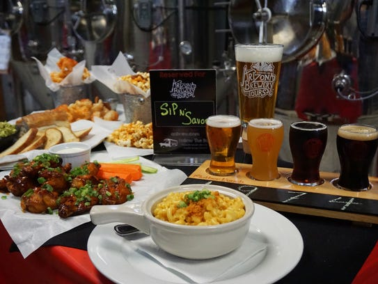 Food and beer paired at Mother Bunch Brewing, one of