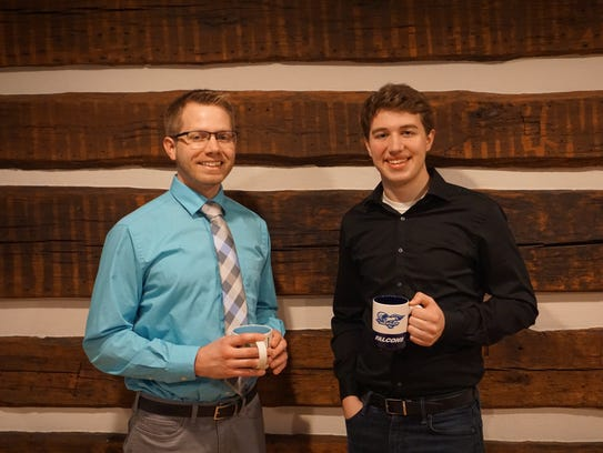Caleb Wenger, left, and Mentor Dr. Ben Wenger