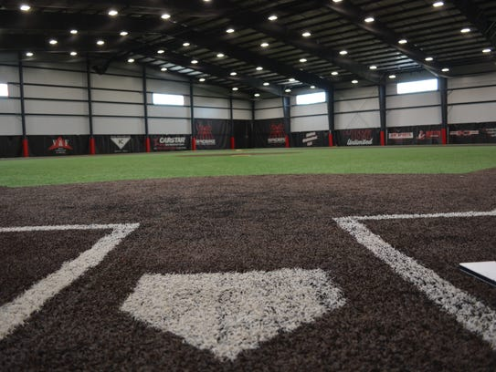 Batters can step up to the plate indoors at Stiks Academy