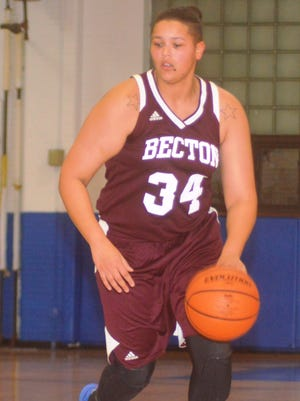 Becton forward Justina Cabezas had a game-high 32 points in the opener against St. Mary.