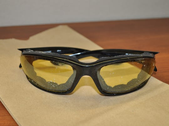 Cape police say the suspect in a bank robbery left these glasses behind.