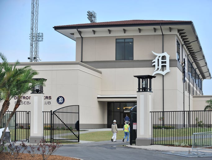 The new Tigers clubhouse building with an administrative