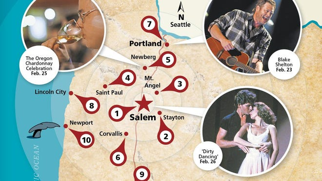Willing to head out of Salem? Here's what's going on from Portland to Eugene, Bend to coast.