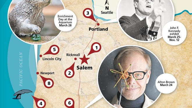 Need to get out of town? Here's what's happening from the coast to Portland and Eugene.