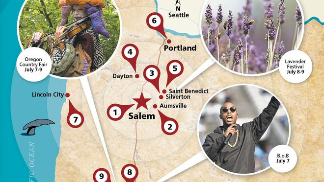 What's happening in Western Oregon that's worth hitting the road July 6-9.
