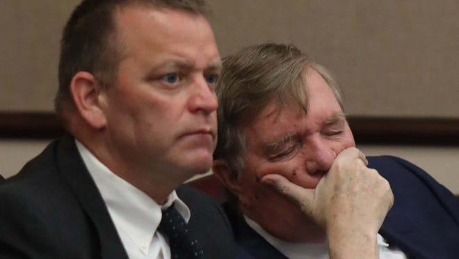 Richard Forte, left, was found guilty Wednesday, Sept. 25, 2020, in Utica City Court of three charges related to a lewd incident in 2018.