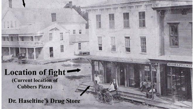 The scene of the fatal fight in Bristol.