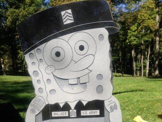 iraq veteran s spongebob gravestone removed