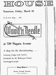 An ad for the Wood N Needle another project of the