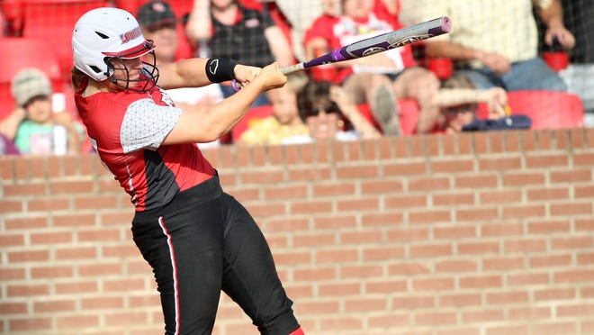 UL catcher Lexie Elkins hit five homers and drove in 13 runs in Saturday's road doubleheader sweep.