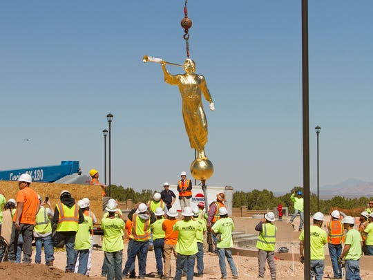 The Cedar City LDS Temple adds an Angel Moroni statue
