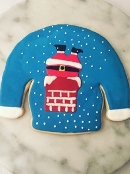 ugly sweater cookie 1
