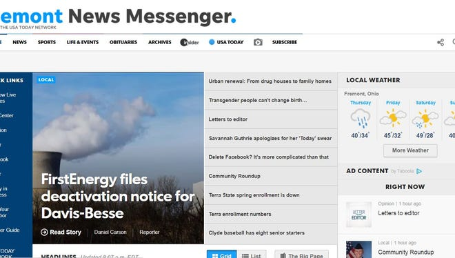 Five digital benefits of a News-Messenger subscription.