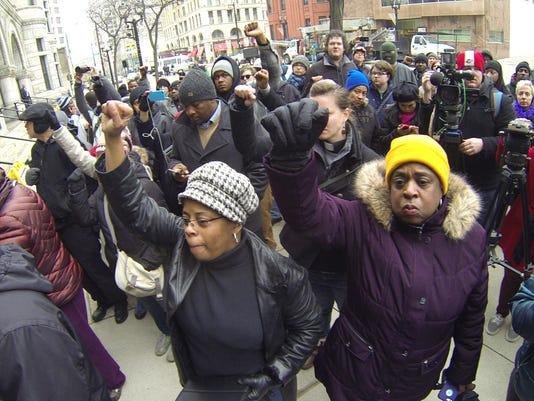 APTOPIX Killings by Police Milwaukee
