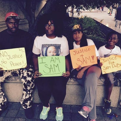 Members of Sam DuBose's family began showing up early