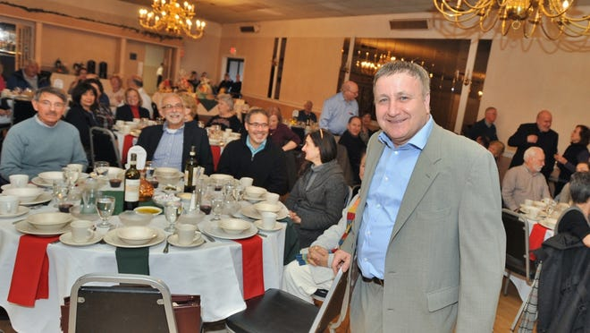 Anthony Martignetti shared a meal with the members of the Italian American Cultural Organization at the Braintree Sons of Italy on Wednesday, April 3, 2019.