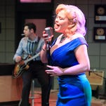"A rollicking scene from ""Million Dollar Quartet"" at Flat Rock Playhouse"