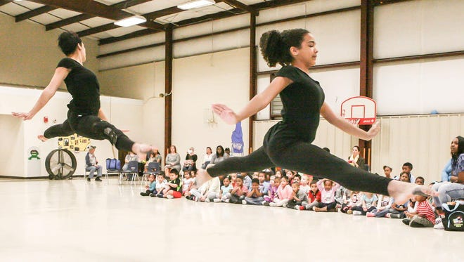 Dancers with Shalom Movement perform at Bransford during music appreciation month.