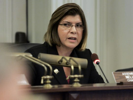 Assemblywoman Nellie Pou (D-Passaic) chairs the Assembly Appropriations Committee meeting at the Statehouse Tuesday examining the failed Race To The Top application.   9/7/10 - TRENTON - RACETOTOP0907I - ASBURY PARK PRESS PHOTO BY THOMAS P. COSTELLO - #76450