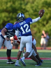 Zairn Davis of Summit Country Day launches a pass downfield for the East All-Stars Thursday, June 8 at Kings High School 2017 SWOFCA East/West All-Star Football Game.