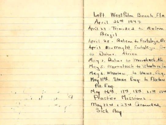Veteran Adam Sturlese preserved his journal entries