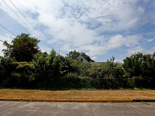 The overgrown yard of a vacant home at 1690 Roosevelt St. NE, on Friday, July 10, 2015, in Salem, Ore.
