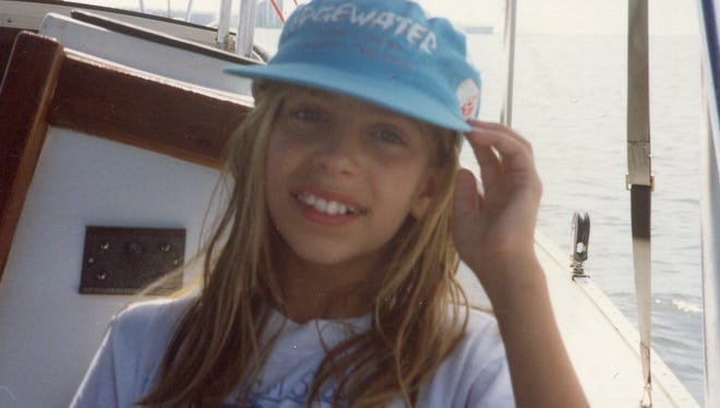 The author, Lauren Villagran, at 10 years old in Pensacola.