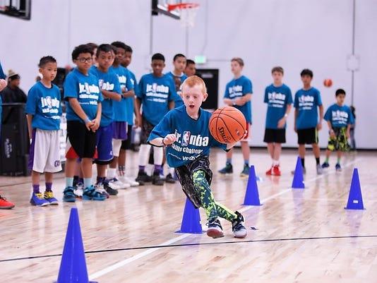 NBA junior skill challenge