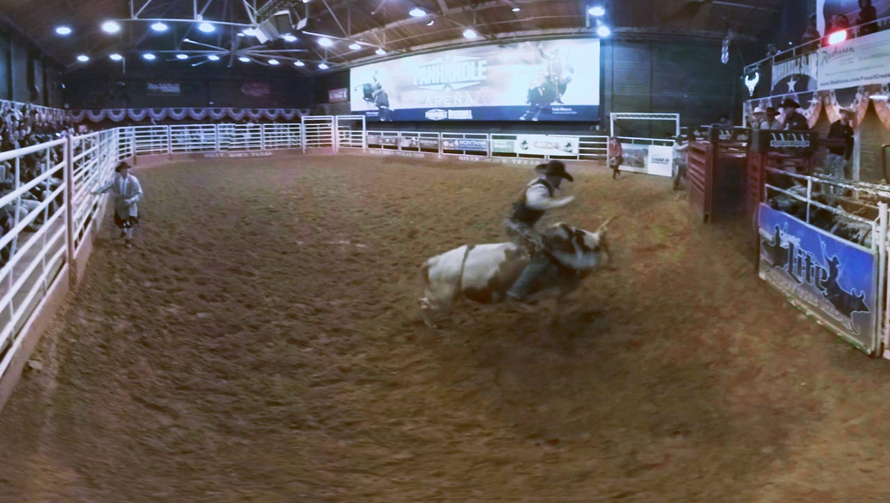 VR: Step into the arena with a bucking bull