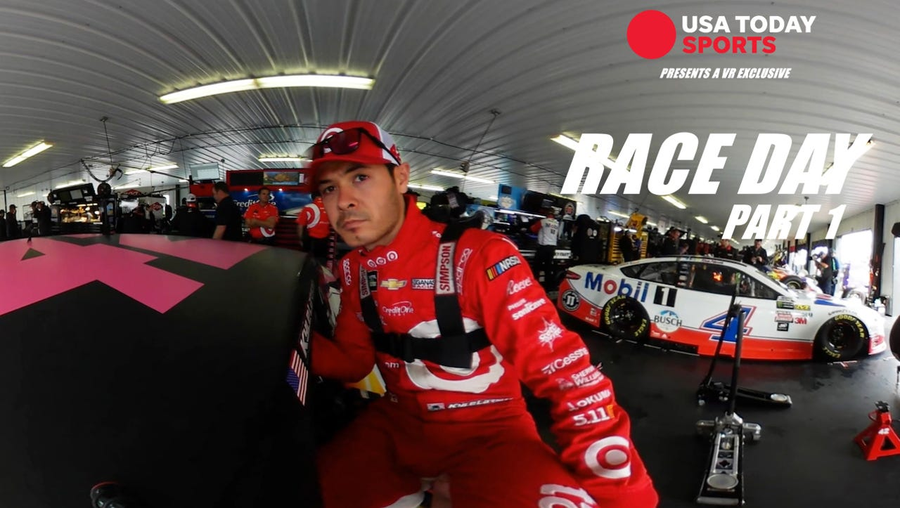Buckle up with Kyle Larson for an amazing NASCAR race in VR