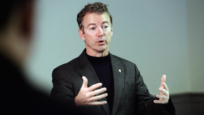 """Sens. Rand Paul (pictured) and John McCain are feuding again. Paul, a 2016 presidential contender, called McCain a """"lapdog"""" for President Barack Obama on foreign policy. McCain shot back that Paul is """"the worst possible candidate, of the 20 or so that are running, on the most important issue, which is national security."""""""
