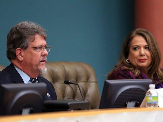 Greg Perkes (left) and Leticia Hinojosa, candidates