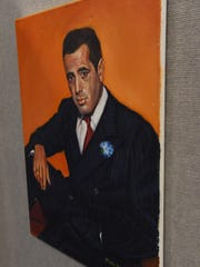 A painting of Humphrey Bogart produced by a veteran