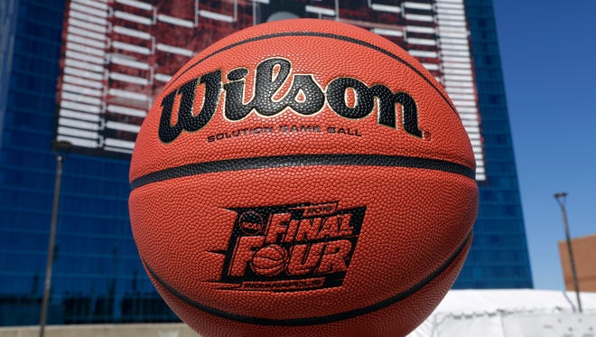 General view of a Wilson game ball during the 2015 NCAA tournament (last year's).