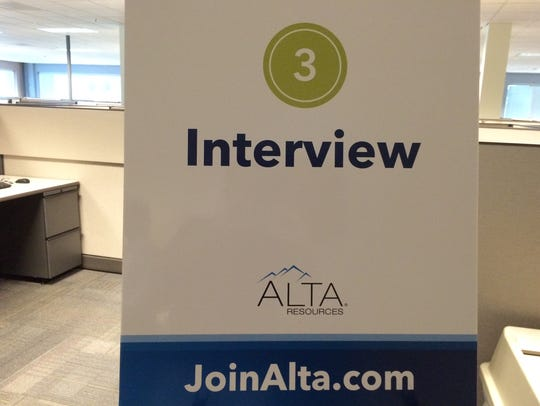 A photo from a previous job fair at Alta Resources.