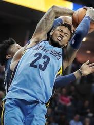 Memphis Grizzlies guard Ben McLemore (23) is fouled