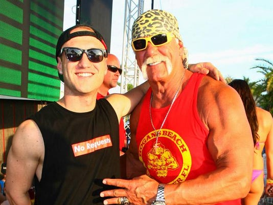 Hulk Hogan with son Nick