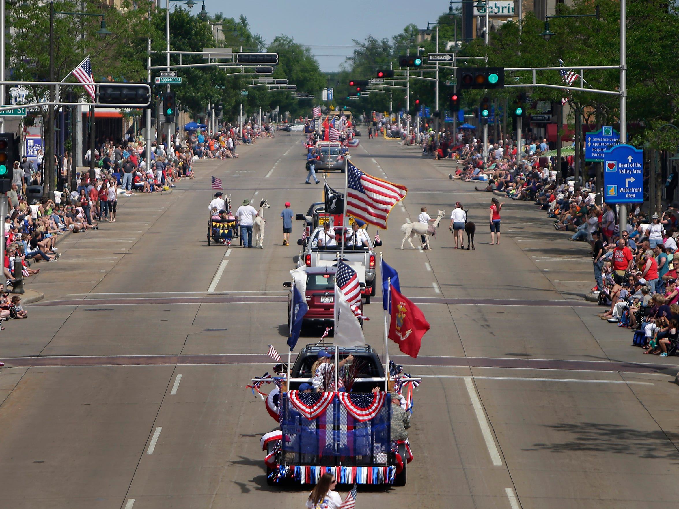 The Appleton Flag Day Parade will take over College
