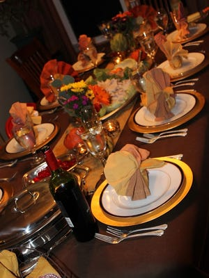 Set the table the night before a gathering, then spend time with guests and last-minute tasks.