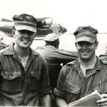 Cpl. Anthony Ackerman, left, of Iowa Falls and Cpl. Ronad Kist of Webster City are pictured at Da Nang, South Vietnam on Feb. 16, 1968.