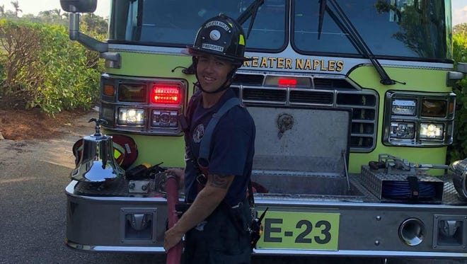 Greater Naples Fire Rescue District firefighter Doug Holden, who needs a new transplanted kidney.