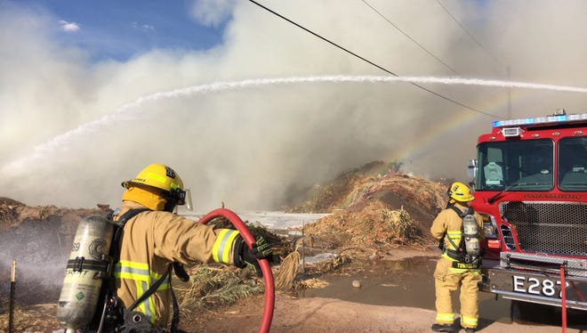 The fire was burning on the southeast corner of Arizona Avenue and Willis Road in Chandler.
