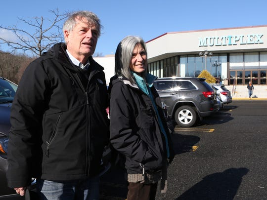 Joseph and Helen Verdicchio from Yonkers, talk about the closing of the Saw Mill Multiplex Cinema in Hawthorne, Jan. 16, 2016.