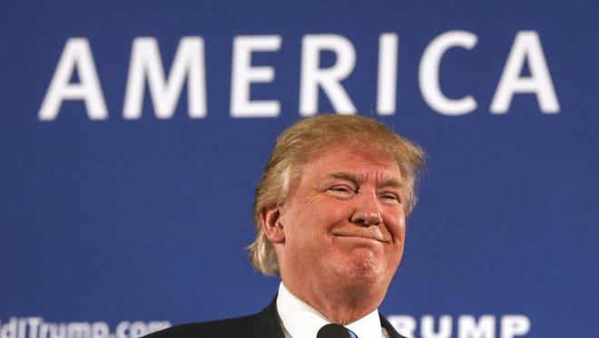 Republican presidential candidate Donald Trump campaigns in Atkinson, N.H., on Oct. 26, 2015.