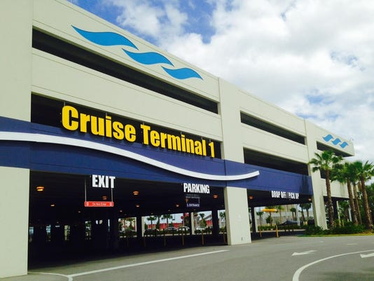 The Cruise Terminal 1 parking garage is among Port Canaveral cruise parking facilities. DAVE BERMAN/FLORIDA TODAY