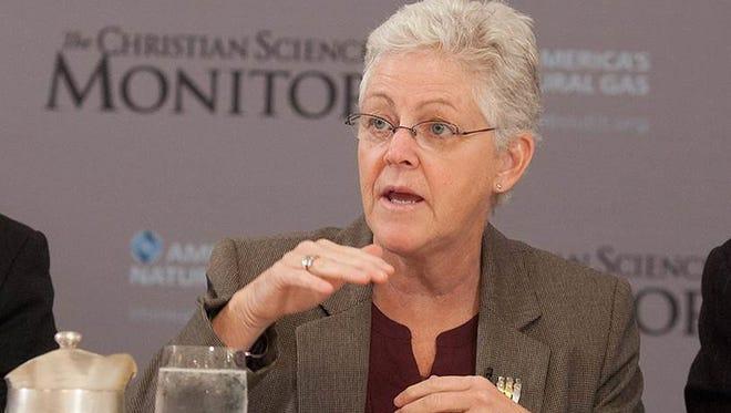 EPA Administrator Gina McCarthy speaking at the Christina Science Monitor breakfast.
