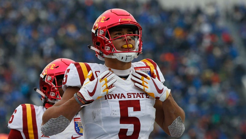 Former Iowa State Wr Allen Lazard Makes Quick Impression At Nfl Combine