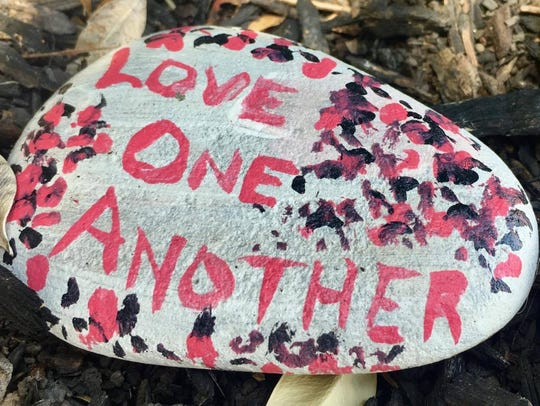 A new trend has started in which locals paint rocks